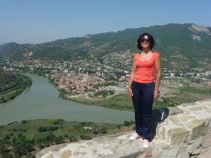 Вид с монастыря Джвари на слияние рек