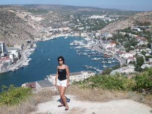 Вид на Балаклавскую бухту, Крым сентябрь